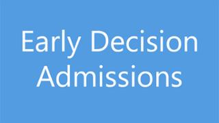 Early Decision Admissions