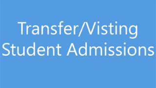 Transfer Visiting Admissions